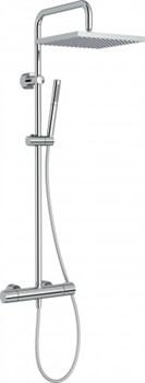 JACOB DELAFON Brigitte Душевая колонна с термостатическим смесителем, с квадратным верхним душем, без излива для ванны - фото 113705