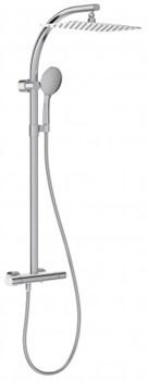 JACOB DELAFON Talan Душевая колонна c термостатическим смесителем с прямоугольным верхним душем - фото 113709