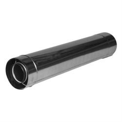 Труба удлинительная дымохода ? 60 мм для газовых водонагревателей Zanussi  Turbo 500мм - фото 5365