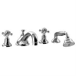 PALAZZANI Adams врезной смеситель для ванны с душевым гарнитуром - фото 6512