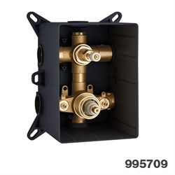 PALAZZANI PBox встроенная часть для термостатического смесителя на 2 потребителя - фото 7751