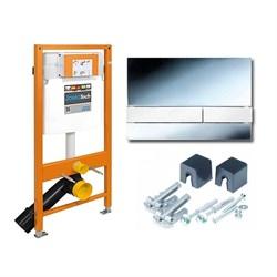 174-91101300-00 Jomo Tech Набор: система инсталляции, крепление, клавиша смыва EXCLUSIVE 2.0 хром - фото 9141