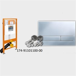 174-91101100-00 Jomo Tech Набор: система инсталляции, крепление, клавиша смыва EXCLUSIVE 2.0 матовый хром - фото 9148