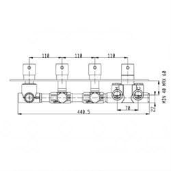 RU005X00Q AquaElite встроенная часть термостатического смесителя на 5 потребителей - фото 9374