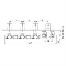RU003X00Q AquaElite встроенная часть термостатического смесителя на 3 потребителя - фото 9376