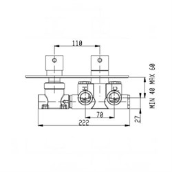 RU102X00Q AquaElite встраиваемая часть термостатического смесителя - фото 9377