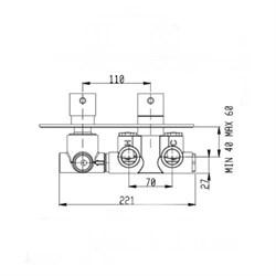 RU103X00Q AquaElite встроенная часть термостатического смесителя - фото 9378