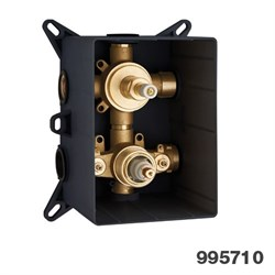 PALAZZANI PBox встроенная часть для термостатического смесителя на 2 потребителя - фото 9747