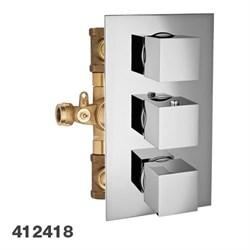 PALAZZANI Track вcтроенный термостатический смеситель на 2 потребителя - фото 9755