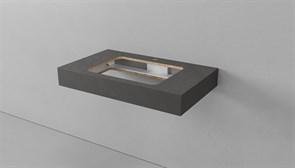 Столешница VELVEX Unit, ширина 80 см, толщина 11см, с отверстием под раковину Effe и смеситель