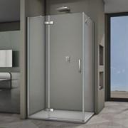 VECONI RV-064 Душевой уголок прямоугольный с распашными дверями, размер 120х80 см