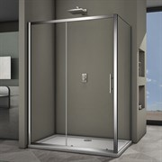 VECONI RV-35 Душевой уголок прямоугольный с раздвижными дверями, размер 120х80 см