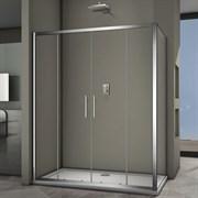VECONI RV-34 Душевой уголок прямоугольный с раздвижными дверями, размер 140х100 см