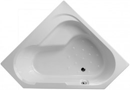 JACOB DELAFON Bain-Douche Угловая правосторонняя ванна-душ 145 x 145 см для установки с ножками (в комплекте).