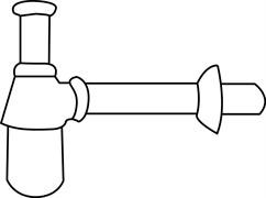 JACOB DELAFON Elements Латунный сифон для раковины с регулируемой высотой, горизонтальная подводка