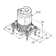 KLUDI Внутренний блок DN 20 для наполных смесителей для ванны на 1 отверстие