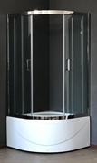 ROYAL BATH RB-L-3001 100x100 Душевое ограждение, стекло 6 мм прозрачное, профиль нержавеющая сталь зеркальный глянец, дверь раздвижная