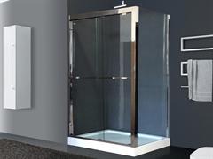 ROYAL BATH RB-L-2011 140x80 Душевое ограждение, стекло 8 мм прозрачное, профиль нержавеющая сталь зеркальный глянец, дверь раздвижная