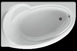 AQUATEK Бетта  Акриловая ванна на каркасе, слив-перелив в комплекте, без панели. Левая ориентация