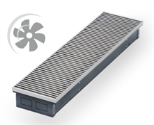 WARMES HAUS Конвектор с вентилятором водяной внутрипольный KWHV с решеткой L-800 мм