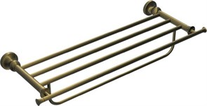 RUSH Crete Полка для полотенец 60 см. (4-ая) , светлая бронза