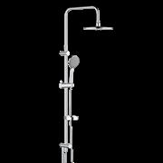 Damixa Akita, душ.система: верх. душ d 220 мм, ручн. душ d 120 мм, 5 режимов,переключатель