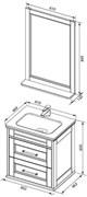 AQUANET Бостон М 60 Комплект мебели для ванной комнаты (лит. мрамор)