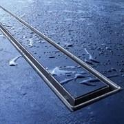 """Комплект TECElinus для монтажа дренажного канала с основой для плитки """"tile"""" и панелью """"steel"""" 2 в 1, 900мм"""
