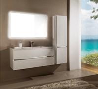 SANVIT Кубэ-2 Тумба подвесная для ванной комнаты с раковиной, 2 выдвижных ящика