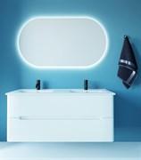 SANVIT Форма 120 Тумба подвесная для ванной комнаты с двойной раковиной, 2 выдвижных ящика