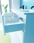 SANVIT Форма 120 Тумба напольная для ванной комнаты с двойной раковиной, 2 выдвижных ящика