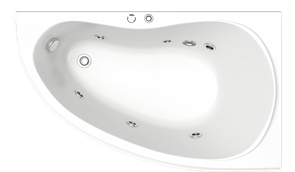 Гидромассажная ванна Bas Алегра R 150х90