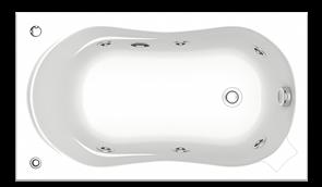 Гидромассажная ванна Bas Кэмерон 120х70