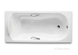 Ванна чугунная Roca Haiti 160x80 с отверстиями для ручек, anti-slip 2330G000R