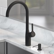AM.PM X-Joy S Набор 2в1: смеситель для кухни с универсальным диспенсером, черный