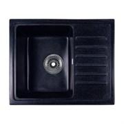 ROSSINKA RS56 Мойка из искусственного мрамора, размер 55х45,2 см, цвет черный, поверхность матовая
