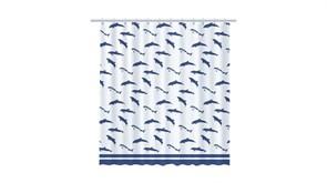 FIXSEN Dolphins Шторка для ванной, ширина 180 см, цвет синий