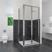 RGW CL-31 100х100 Душевой уголок квадратный, двери складные, профиль хром, стекло прозрачное 4 мм