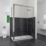 RGW CL-40 110х100 Душевой уголок прямоугольный, двери раздвижные, профиль хром, стекло прозрачное 4 мм