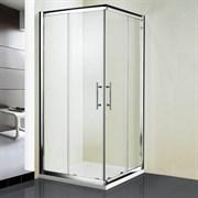 RGW HO-31 100х100 Душевой уголок квадратный, двери раздвижные, профиль хром, стекло прозрачное 8 мм