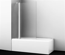 WASSERKRAFT Berkel 48P02-110 L Matt glass Fixed Стеклянная шторка на ванну, двухстворчатая, левосторонняя, матовое стекло, ширина 110 см, стекло матовое 6 мм