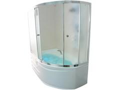 1MARKA Diana Шторка для ванны Diana, 170х105х140, профиль - хром