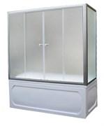 1MARKA Шторка на прямоугольную ванну, профиль-хром, 150x140