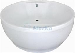 1MARKA Omega Ванна круглая, с рамой и панелью, белая, 180x180