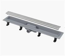 ALCA PLAST Симпл желоб водоотводящий, L 850 мм, пластик , с решеткой из нержавеющей стали, матовый