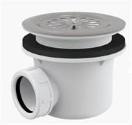 ALCA PLAST Сифон для душевого поддона со сливным отверстием Ø90 мм, с нержавеющей решеткой, без пробки