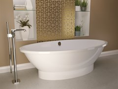AquaStone Кантри Ванна из литьевого мрамора, размер 190х95 см, высота- 57 см, глубина - 44 см