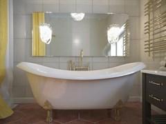 AquaStone Лиона Ванна из литьевого мрамора, размеры 190х86 см, высота - 80 см, глубина - 45 см, на ножках (бронзовые)