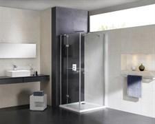CEZARES CRYSTAL-S-A-1-R Душевой уголок квадратный двери распашные, стекло 8 мм, правый вариант