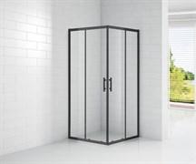 CEZARES ECO-O-A-2-90-C-NERO Душевой уголок квадратный двери раздвижные, стекло 6 мм, устанавливается на левую или правую стороны